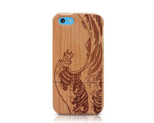 Genuine Wood Series iPhone 5C Case - Wave