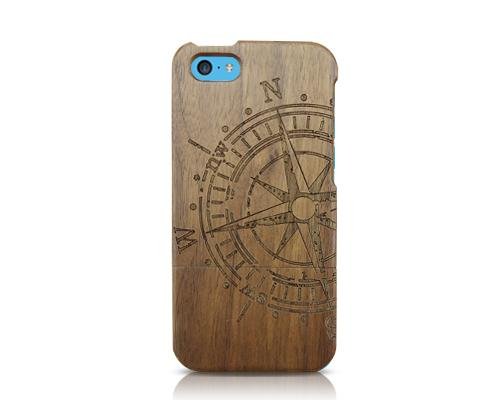Genuine Wood Series iPhone 5C Case - Nautical Needle