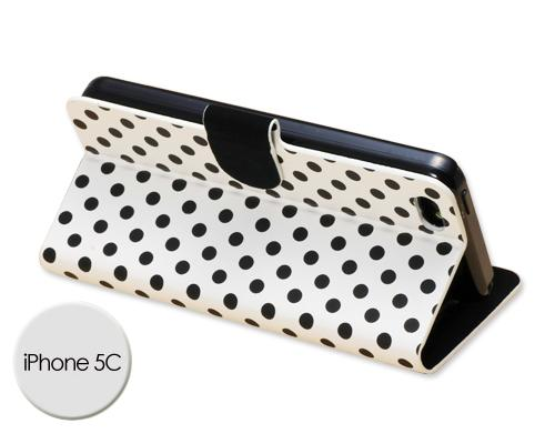 Spot Series iPhone 5C Flip Leather Case - White