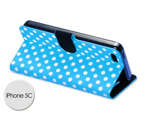 Spot Series iPhone 5C Flip Leather Case - Blue