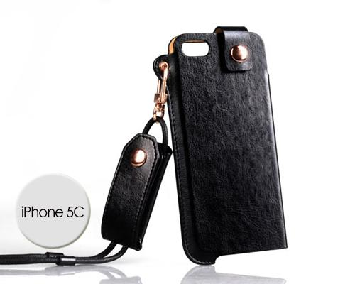Eternal Series iPhone 5C Leather Case - Black