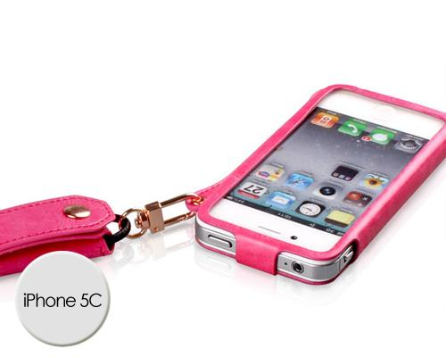 Eternal Series iPhone 5C Leather Case - Magenta