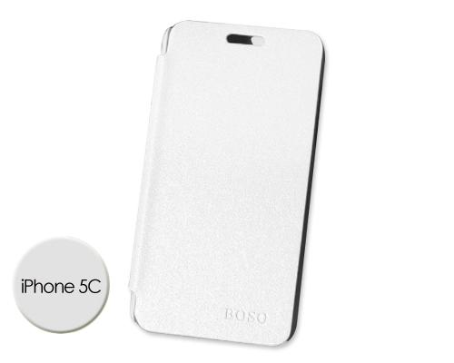 Grain Series iPhone 5C Flip Leather Case - White