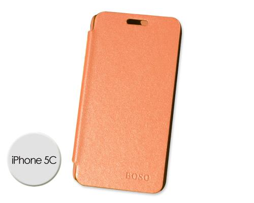 Grain Series iPhone 5C Flip Leather Case - Orange