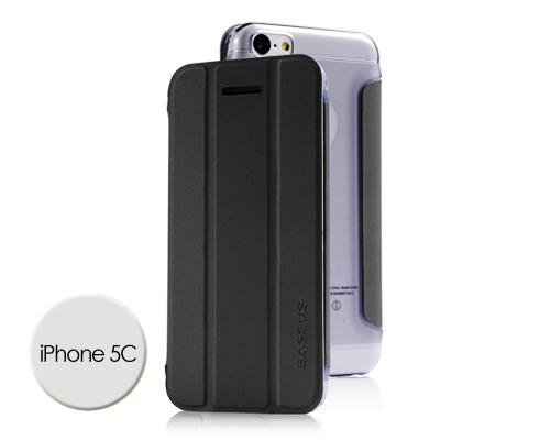 Veins Series iPhone 5C Flip Leather Case - Black