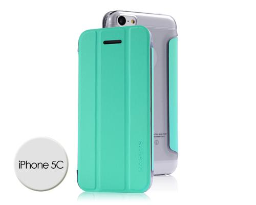 Veins Series iPhone 5C Flip Leather Case - Blue