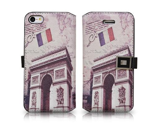 Landmarks Series iPhone 5C Flip Leather Case - Triumphal Arch