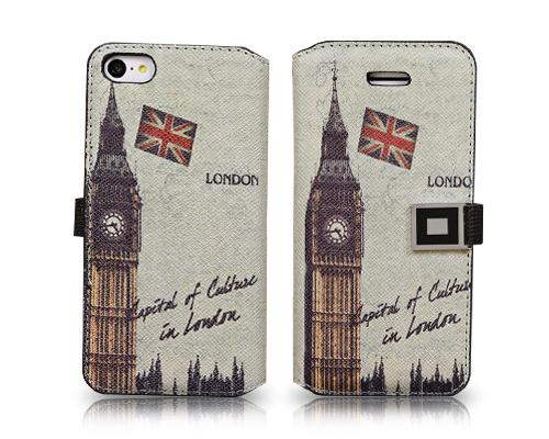 Landmarks Series iPhone 5C Flip Leather Case - Big Ben