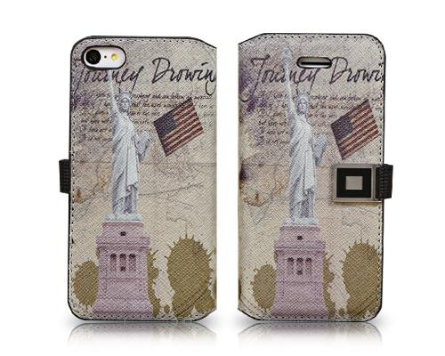 Landmarks Series iPhone 5C Flip Leather Case - Statue of Liberty