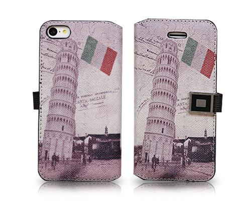 Landmarks Series iPhone 5C Flip Leather Case - Leaning Tower of Pisa
