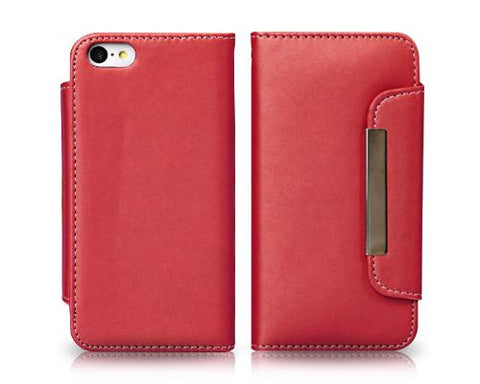 Wallet Series iPhone 5C Flip Leather Case - Red