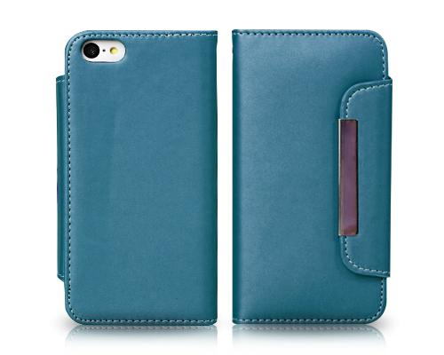 Wallet Series iPhone 5C Flip Leather Case - Green