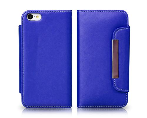 Wallet Series iPhone 5C Flip Leather Case - Blue
