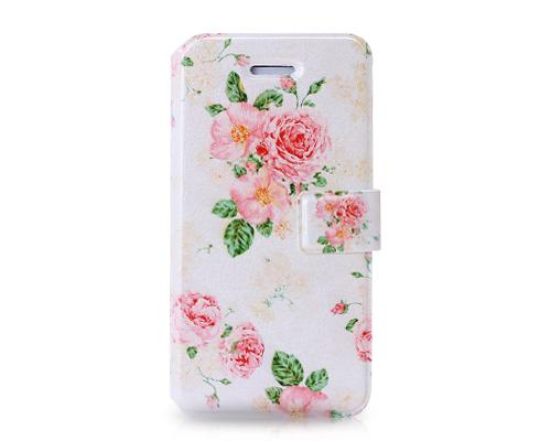 Famoso Series iPhone 5C Flip Leather Case - Flowers