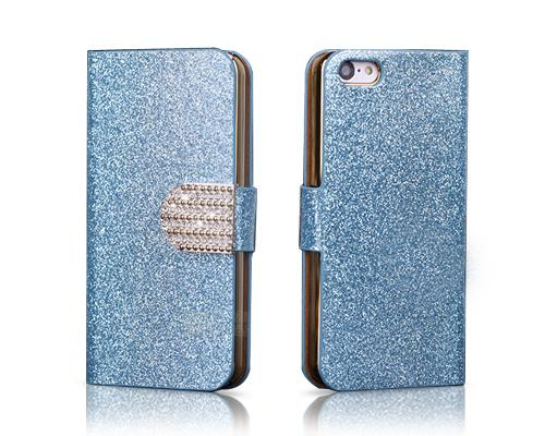 Twinkle Series iPhone 5C Flip Leather Case - Ice Blue