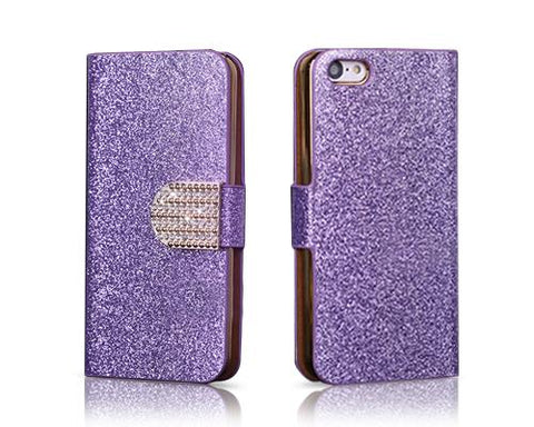 Twinkle Series iPhone 5C Flip Leather Case - Purple