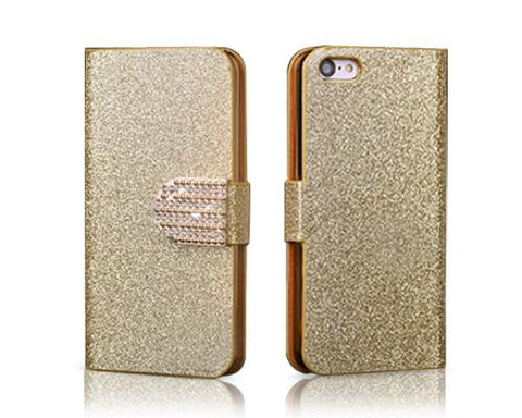 Twinkle Series iPhone 5C Flip Leather Case - Gold