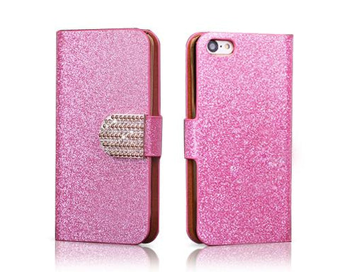 Twinkle Series iPhone 5C Flip Leather Case - Pink