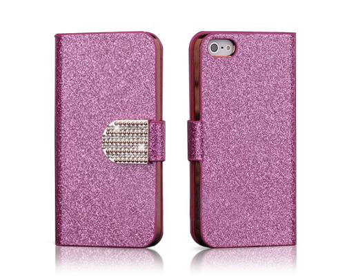 Twinkle Series iPhone 5C Flip Leather Case - Magenta