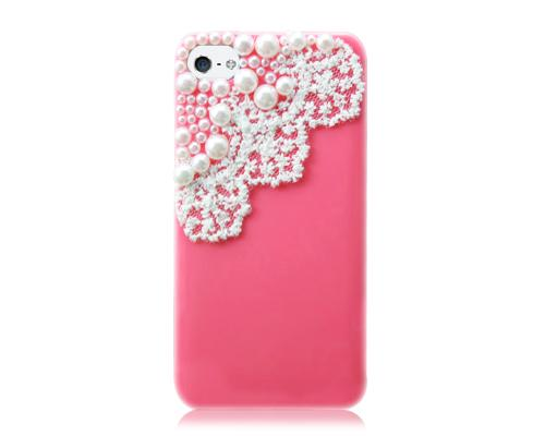 Lace Pearl Series iPhone 5 and 5S Case - Red