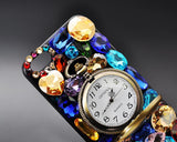 Pendant Watch Series iPhone 5 and 5S Crystal Case - Blue