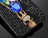 3D Stylish Rhinestone Series iPhone 5 and 5S Crystal Case - Zipper