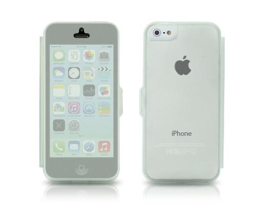 Translucent Series iPhone 5C Flip Silicone Case - White