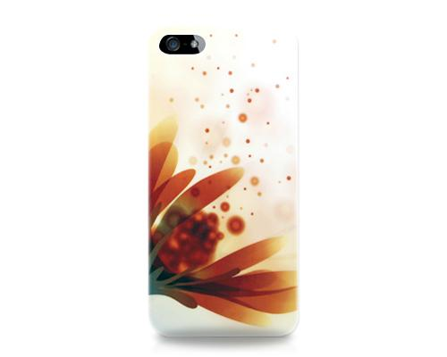 Graffiti Series iPhone 5 and 5S Case - Orange Flower