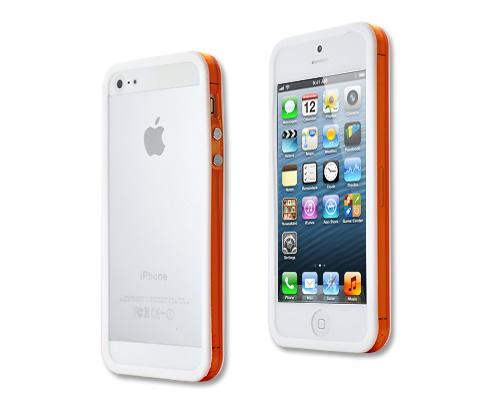 Bumper Series iPhone 5 and 5S Case - White Orange