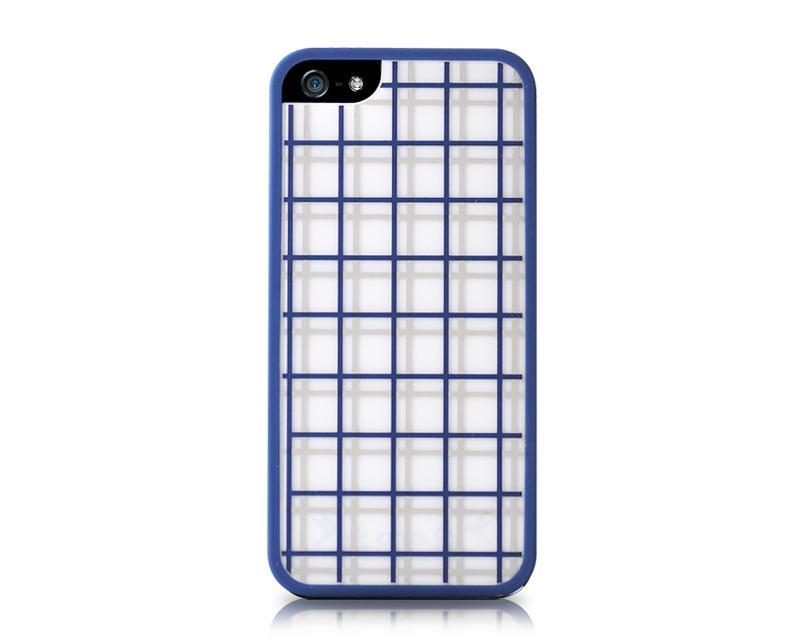 Stylish Bumper Series iPhone 5 and 5S Case - Square Blue