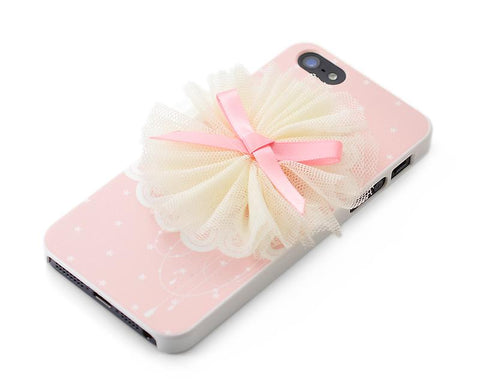 3D Stylish Series iPhone 5 and 5S Case - Lace Flower