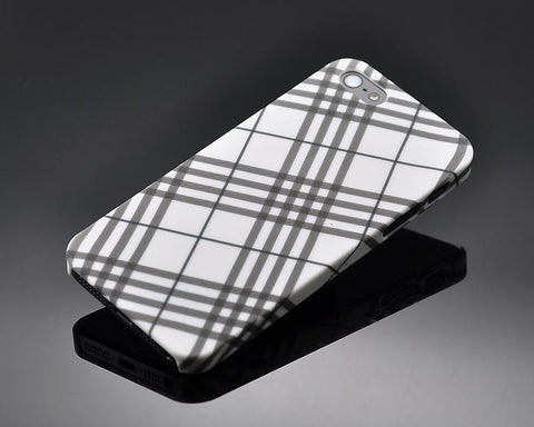 Tartan Series iPhone 5 and 5S Case - White