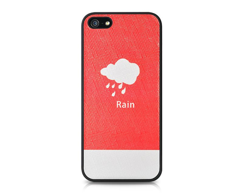 Weather Series iPhone 5 and 5S Leather Case - Rain