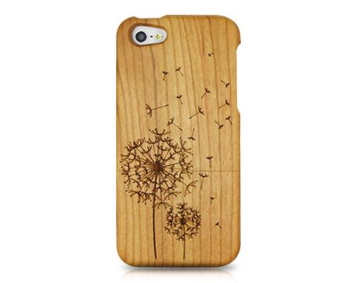 Genuine Wood Series iPhone 5 and 5S Case - Dandelion