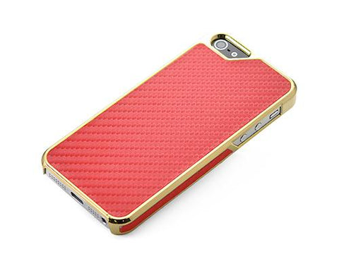 Metal Series iPhone 5 and 5S Case - Twill Red