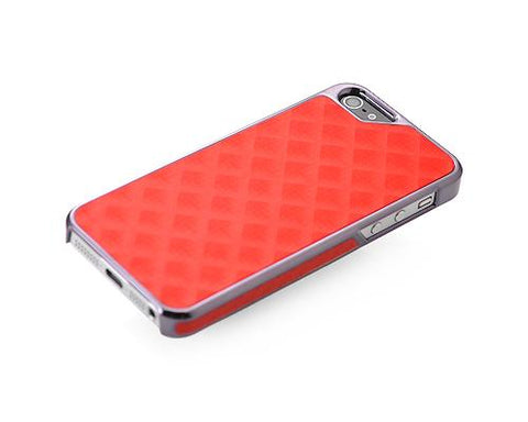 Metal Series iPhone 5 and 5S Case - Square Red