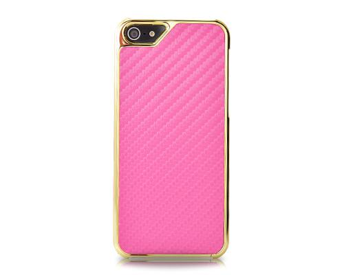 Metal Series iPhone 5 and 5S Case - Twill Pink