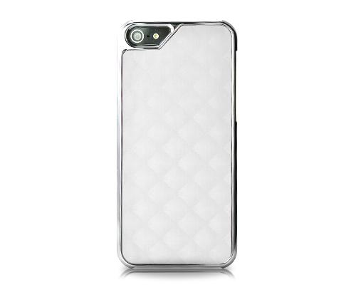 Metal Series iPhone 5 and 5S Case - Square White