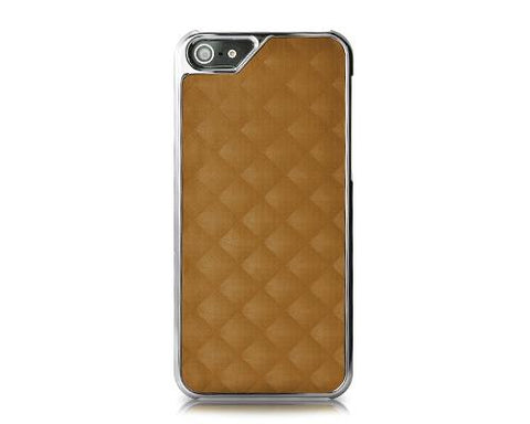 Metal Series iPhone 5 and 5S Case - Square Brown