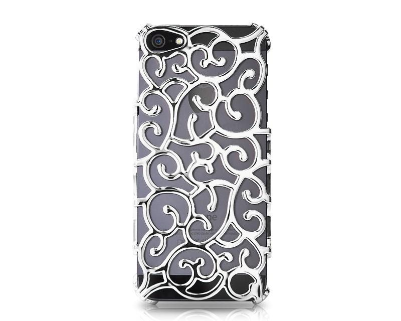 Hollow Vine Series iPhone 5 and 5S Electroplate Case - White