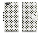 Spot Series iPhone 5 and 5S Flip Leather Case - White