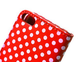 Spot Series iPhone 5 and 5S Flip Leather Case - Red