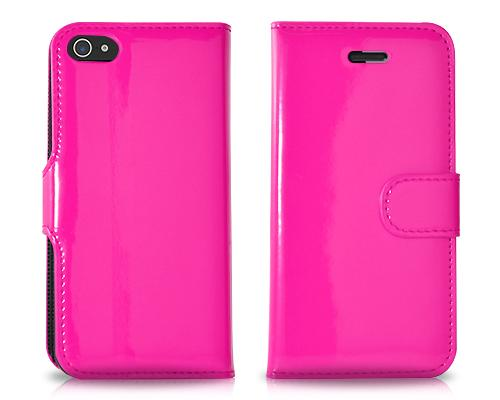 Esecutivo Series iPhone 5 and 5S Flip Leather Case - Magenta