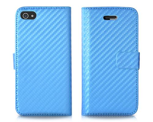 Twill Series iPhone 5 and 5S Flip Leather Case - Blue