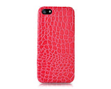 Krokodil Series iPhone 5 and 5S Leather Case - Magenta