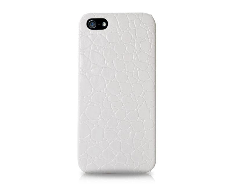 Krokodil Series iPhone 5 and 5S Leather Case - White