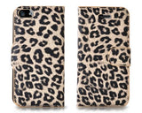 Leopard Series iPhone 5 and 5S Flip Leather Case - Yellow