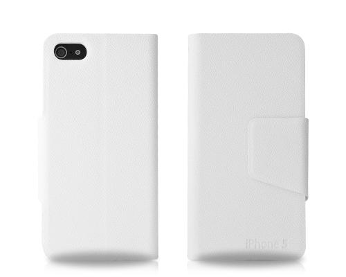 Fold Series iPhone 5 and 5S Flip Leather Case - White