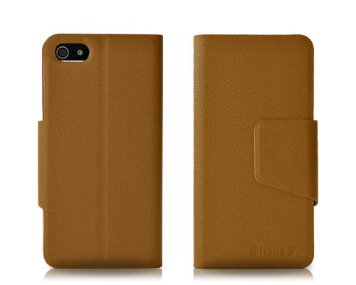 Fold Series iPhone 5 and 5S Flip Leather Case - Brown
