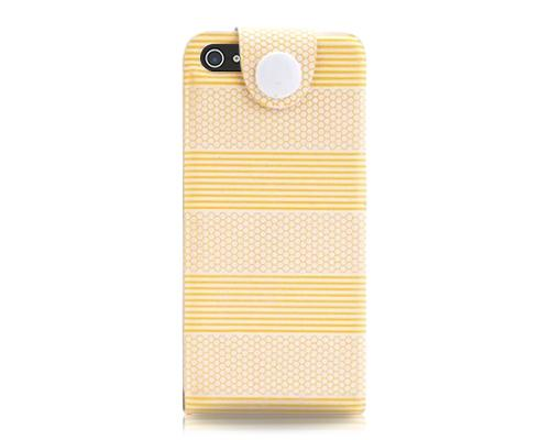 Stripe Series iPhone 5 and 5S Flip Leather Case - Orange